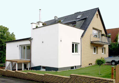 Anbau an Wohnhaus zur Erweiterung der Wohnfläche
