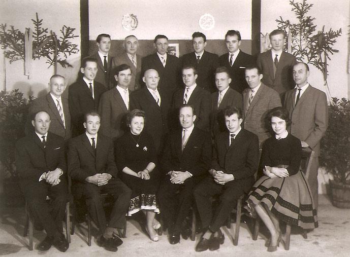 Belegschaft des Baugeschäftes Krämer um 1960